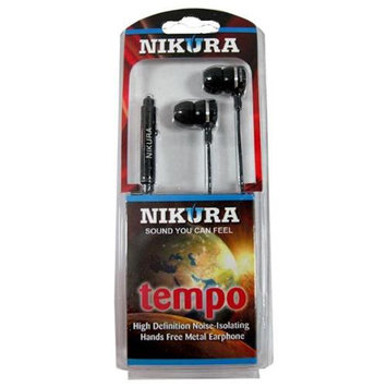 Cam Consumer Products, Inc. Nikura Tempo Ear Buds Black - CAM CONSUMER PRODUCTS, INC