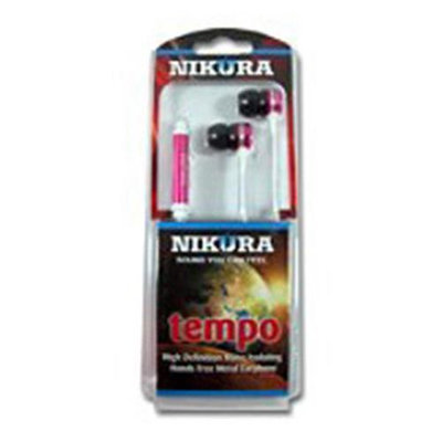 Cam Consumer Products, Inc. Nikura TEMPO EAR BUDS Pink - CAM CONSUMER PRODUCTS, INC