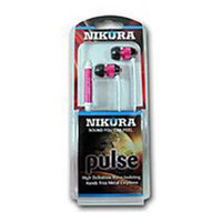 Cam Consumer Products, Inc. Nikura PULSE EAR BUDS Pink - CAM CONSUMER PRODUCTS, INC