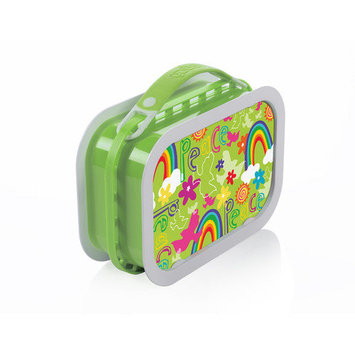 Yubo Deluxe Lunchbox with Peace Design in Green