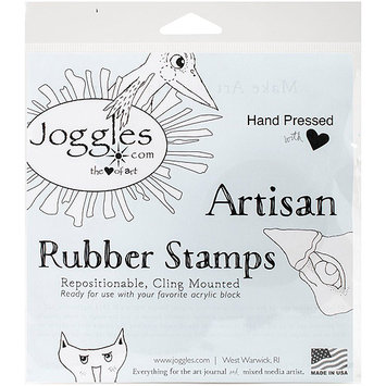Joggles Cling Stamp 2inX3inWonky House #1