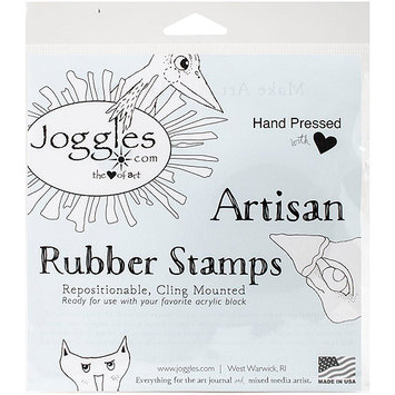 Joggles Cling Stamp 2.75inX4inWonky House #4