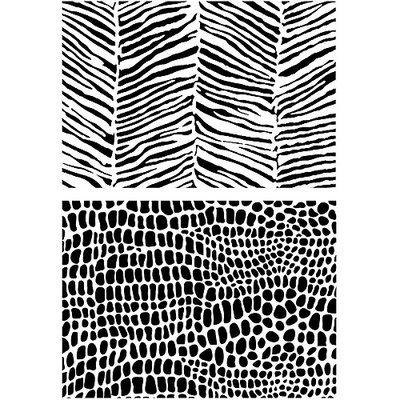 Joggles Stencil 9inX12inZebra & Croc Texture