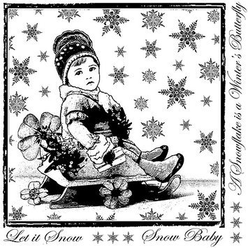 Crafty Individuals Unmounted Rubber Stamp 4.75 X7 Pkg - Snowflake Rudolph
