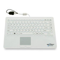 Sealshield Seal Shield Keyboard 87 Keytouchpad Cable USB PS/2 MAC PC White Waterproof Keyboard SW87P2