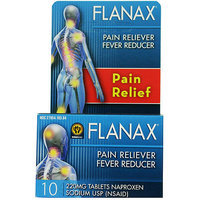 Flanax Naproxen Sodium USP Pain Reliever/Fever Reducer Tablets, 220mg, 10 count