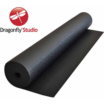 Dragonfly Yoga DragonFly Studio Standard Yoga Mat - Black (4mm)