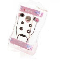 iBoost EP0807PK Stereo Earphones With Volume Control Pink