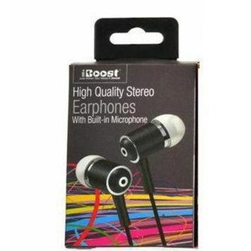 iBoost EPM4420BK Earphones With Built In Microphone & Metal Earplugs Black