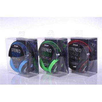 iBoost HP2006BK Stereo Headphones With Deep Heavy Bass Black