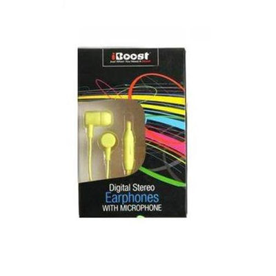 iBoost EPM1218YW Earphone With Built-In Microphone Yellow