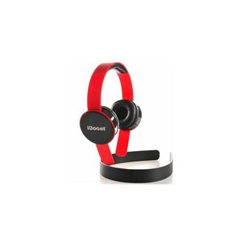 Iboost HP9933RD Stereo Headphones Red W/microphon