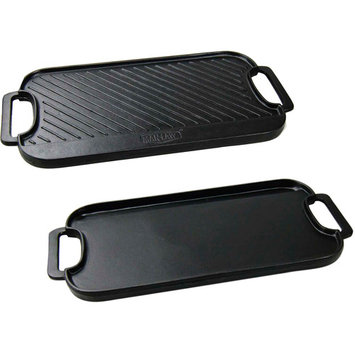 Parasia International Man Law MAN-CG1 Cast Iron Reversible Griddle