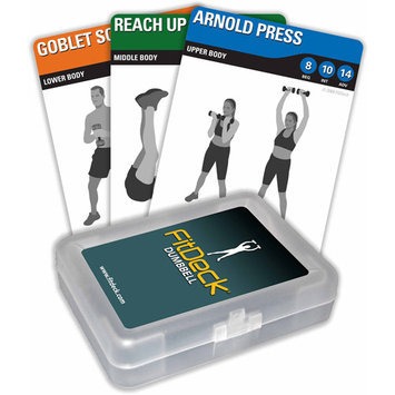 Fitdeck Inc Fitdeck Fitdeck Dumbbell Playing Cards - Set Of 26