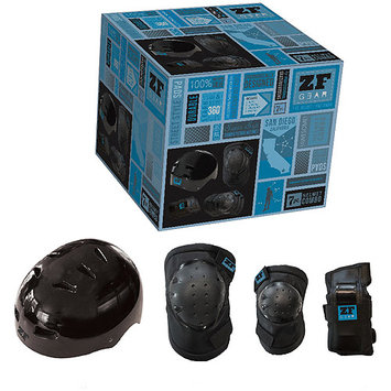 Mindtwister Usa Zippy Gear Helmet, Elbow, Knee & Wrist Pads - Size Large