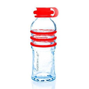 BottlesUp Red 16-Ounce Glass Water Bottle-16 oz Bottle