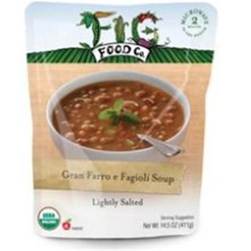 Fig Food Company Gran Farro e Fagioli Soup Lightly Salted Organic - 14.5 oz