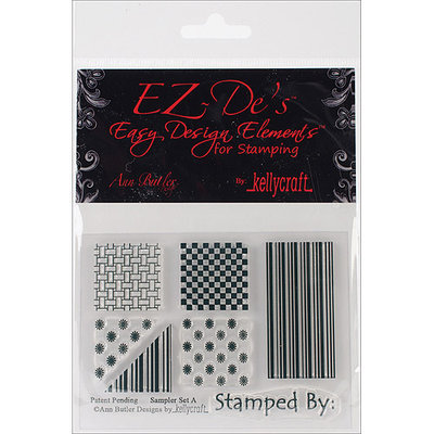 Kellycraft EZSASA EZ-Des Clear Stamps 3 in. X4 in. Sheet-Sampler Set A