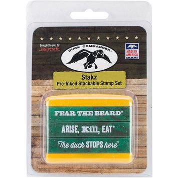 Kellycraft Duck Commander Stakz Green/Yellow Stamp Set 2