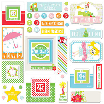 Chickaniddy Crafts Jolly Good DieCut Tags 44/Pkg