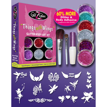 GlitZGlam Things with Wings Large Tattoo Kit