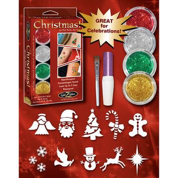 Glitz Glam Christmas XMAS Holiday Sparkle Glitter Tattoo Kit - Fun Festive Body Art
