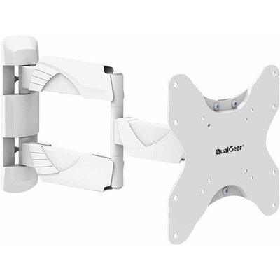 QualGeara ¢ QG-TM-005-WHT Premium Quality Contemporary Style Ultra Low Profile Full Motion Wall Mount for most 23