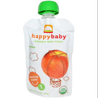 HappyBaby - Organic Baby Food Stage 1 Starting Solids Peach - 3.5 oz.