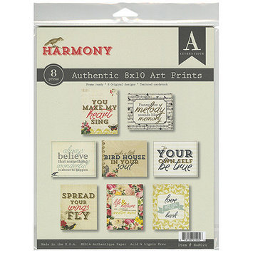 Authentique Paper Harmony Ready-To-Frame Art Prints 8