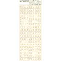 Authentique Paper Faith Cardstock Stickers-Petite Type Mini Alphabet