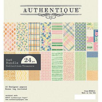 Authentique Paper Authentique Bundle Cardstock Pad 6inX6in 24/PkgTreasure