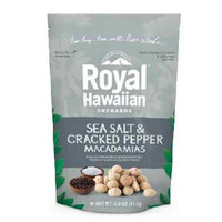 Royal Hawaiian Orchards BG17753 Royal Hawaiian Orchards Macdma SeaSalt-Crkd Pepper - 6x5OZ