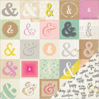 American Crafts Notes & Things Double-Sided Cardstock 12