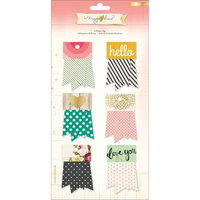 American Crafts Maggie Holmes Open Book Ribbon Tags 6/Pkg