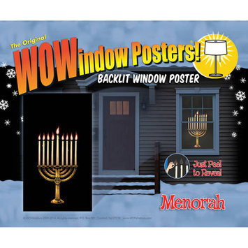 WOWindow Posters 00114 Menorah with Peel-Aways
