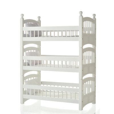 Laurent Doll Doll Triple Detachable Bunk Bed