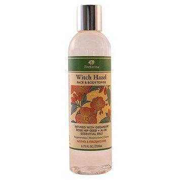 Bretanna - Witch Hazel Face & Body Toner Infused with Geranium Rose Hip Essential Oils - 8.75 oz.