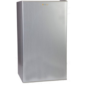 Grape Solar Glacier 5 cu. ft. Mini Refrigerator in Brushed Grey with DC/AC Adapters GS-UF-5-Fab1