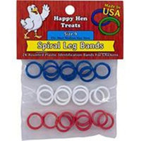 Durvet - Happy Hen D Durvet-Happy Hen D-Happy Hen Spiral Leg Bands- Assorted Size 9-24 Pack 089-17021