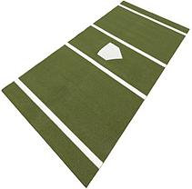 DuraPlay BaseBall 6 ft. x 12 ft. Home Plate Mat in Green HPTG