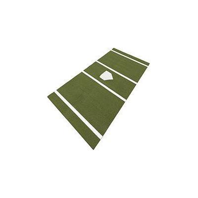 DuraPlay BaseBall 6 ft. x 12 ft. Home Plate Mat in Green HPTG