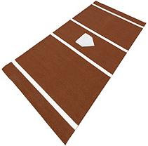 DuraPlay BaseBall 6 ft. x 12 ft. Home Plate Mat in Clay HPCL