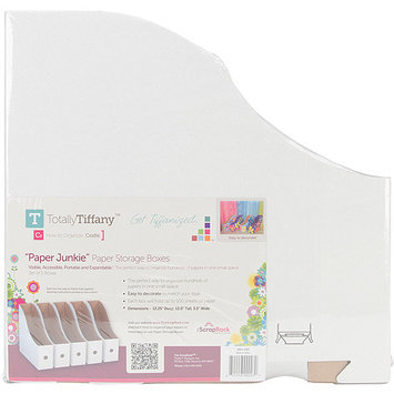 TotallyTiffany ScrapRack Paper Storage Box, 13 1/4&quot x 13&quot x 3 1/2&quot