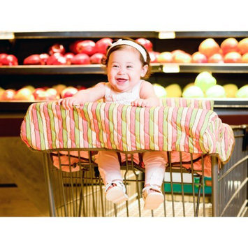 Pam Grace Creations Striped Grocery Cart Cover (Pink/Brown/Green)