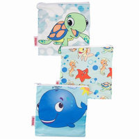 Nuby 3-pk. Reusable Snack Bags (Ocean Friends)