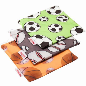 Nuby 3-pk. Reusable Snack Bags (Sports)