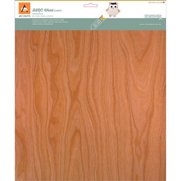 Arc Crafts BARC Wood Sheet W/Adhesive Backing 12inX12in Rustic Cherry