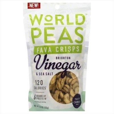 World Peas 5.3 oz. Vinegar And Sea Salt Fava Crisps - Case Of 6
