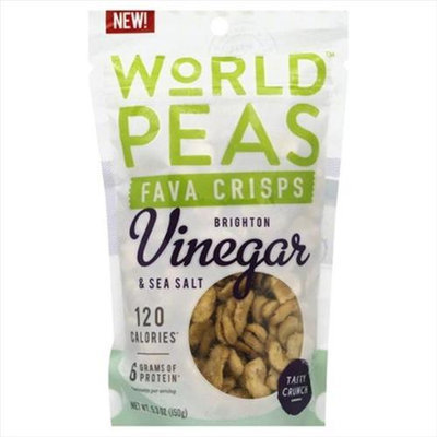 World Peas 5.3 oz. Vinegar And Sea Salt Fava Crisps - Case Of 6