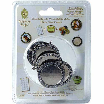 Epiphany Crafts Rhinestone Charm Settings-Round 25; 5/Pkg